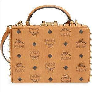 ✨NEW✨MCM Visetos Berlin Box Bag with Studs--Cognac